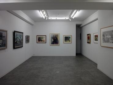 三人の絵画展 会場風景