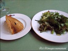タマネギパン&サラダ