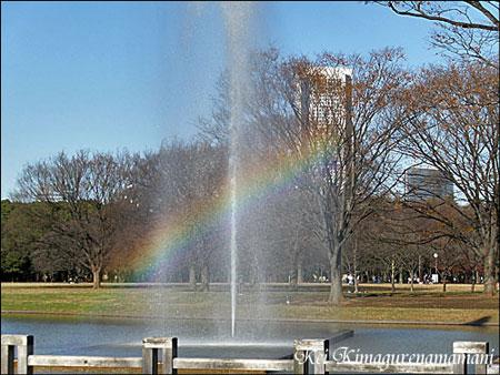 噴水のところで見た虹♪