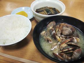 貝汁と粗食