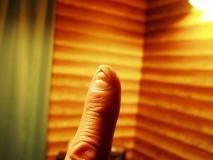 左手の人差し指