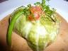 手長海老と白身魚のクルピネット(キャベツ包み)