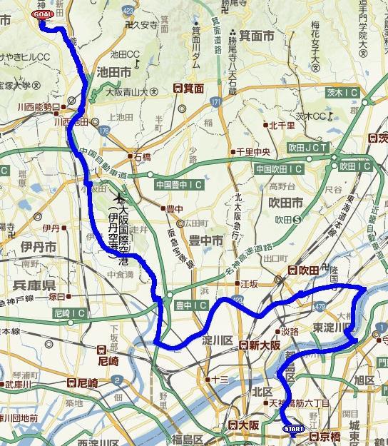 ... 橋から少しだけ車道)多田神社