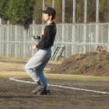 最終回裏、先頭の田中が安打で出塁
