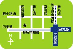 map[四条京町家]