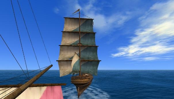 副官船から見たジガーマスト