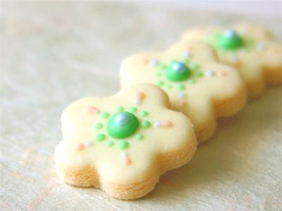 グリーンアイシングクッキー