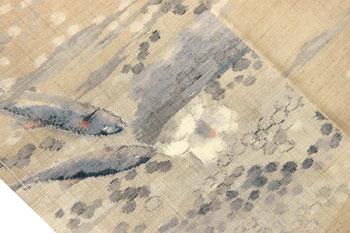 魚いっぱい紬