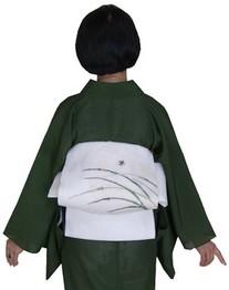 深緑絽・白帯(秋小物) 005 207x262