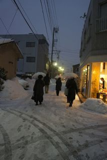13雪道歩き