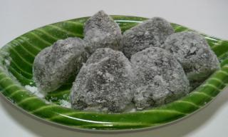 抹茶小豆蕨餅 中身