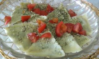 Spinach & Mozzarella Ravioli 完成