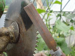 2010-7-11農具メンテナンス