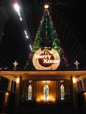 クリスマスツリーin京都駅
