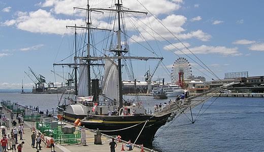 復元帆船・観光丸一般公開-1