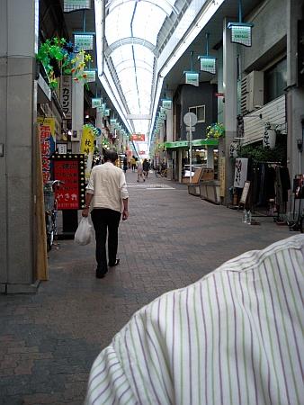 坂のある商店街