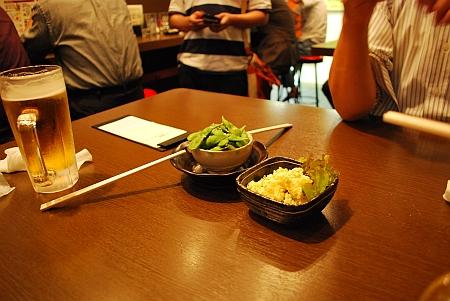 枝豆、ポテサラ