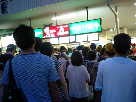 帰りの阪神甲子園駅