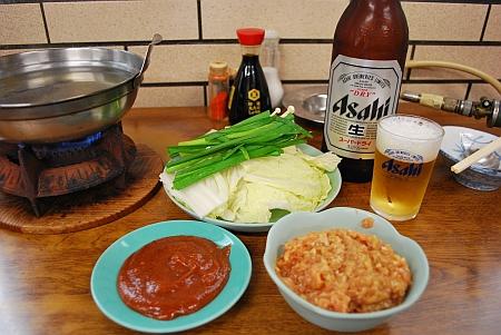 鶏ミンチ鍋、味噌味