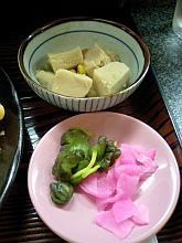 漬けもん&高野豆腐
