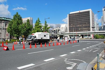 交通規制が