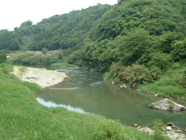 肱川の上流小田川