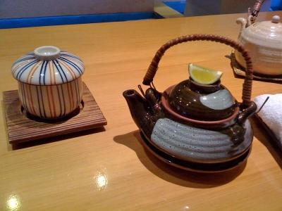 h-しじみご膳3 茶碗蒸し、土瓶蒸し