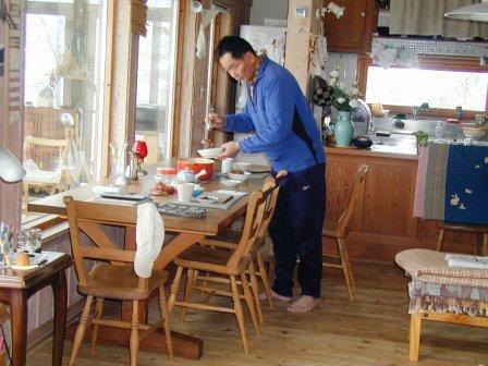 P1010064父さんと昼食