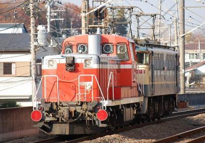 8283レ EF65-1079+DE15-2505