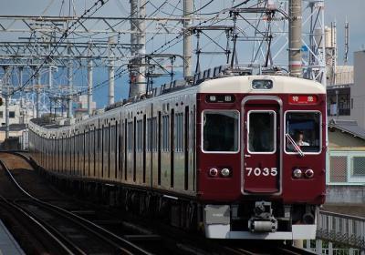 7035F 特急梅田行