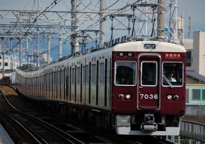 7036F 通勤特急梅田行