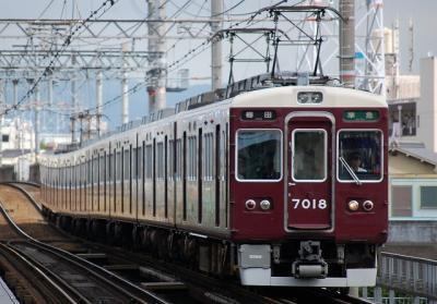 7018F 準急梅田行