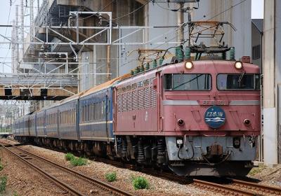 回4002レ EF81-101+24系 寝台特急日本海 回送