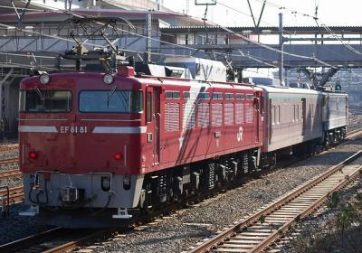 列番不明 EF65-1104+マニ50-2186+EF81-81