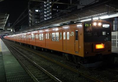 9821T? 201系H4編成 各駅停車高尾行2