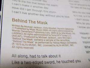 Michael Behind The Mask Note