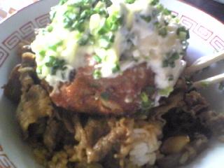 牛丼+ネギ塩マヨネーズ
