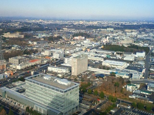 茨城県庁展望階からの眺め!