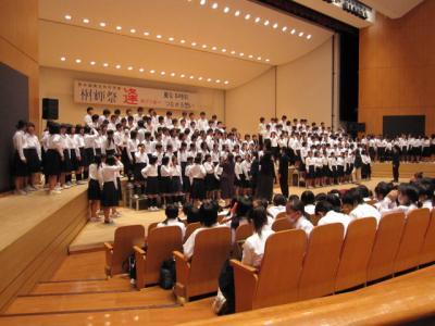 2学年全員での合唱