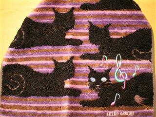 黒猫ちゃんタオル