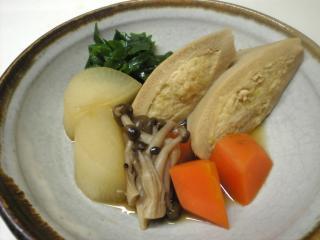 射込み高野豆腐の含め煮
