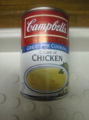 キャンベルのスープ チキンクリーム味