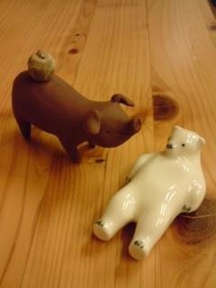 熊五郎とブタ