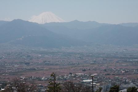 桃と富士山