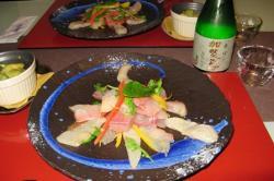 夕食 旬魚のカルパッチョ