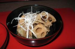 夕食 能登豚と加賀野菜の煮込み