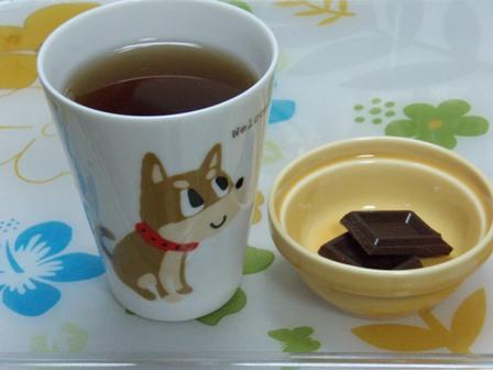 麦茶&チョコ