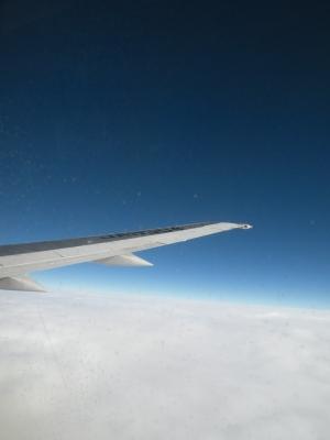 晴れた日の飛行