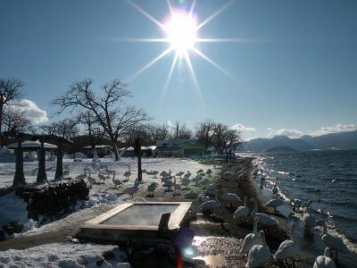 白銀にまぶしい太陽