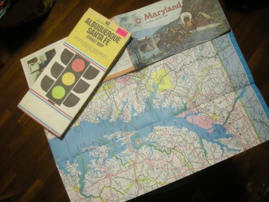 メリーランドとサンタフェの地図